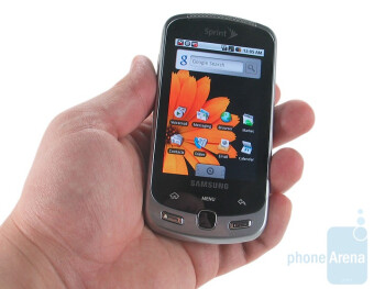 The Samsung Moment is a hefty device - Samsung Moment Review