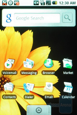 Home screen - Samsung Moment Review