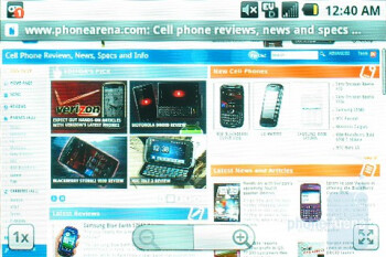 Internet browsing - Samsung Moment Review