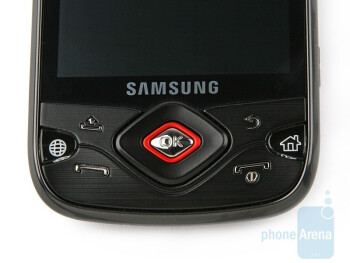 The buttons on the front side - Samsung Galaxy Spica i5700 Review