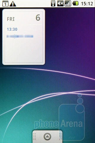 The home screen of the Samsung Galaxy Spica i5700 consist of three separete pages - Samsung Galaxy Spica i5700 Review