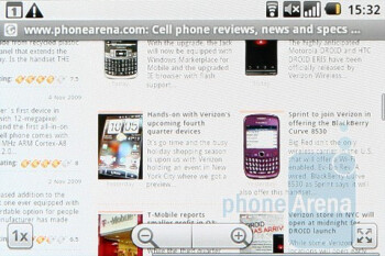 The Samsung Galaxy Spica i5700 comes with standard WebKit-based browser - Samsung Galaxy Spica i5700 Review