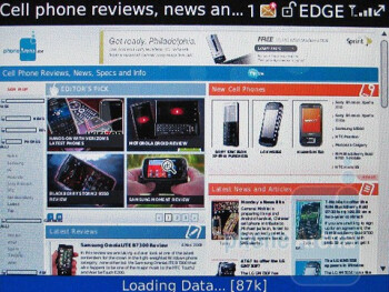 The RIM`s web browser - RIM BlackBerry Bold 9700 Review
