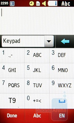 The keyboard layouts of the Samsung S5560 - Samsung S5560 Review