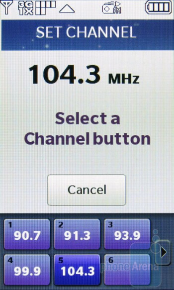 Another nice feature is the inclusion of an FM Tuner - LG Chocolate Touch VX8575 Review