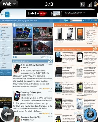 Palm Pixi features the same wonderful WebKit browser - Palm Pixi Review