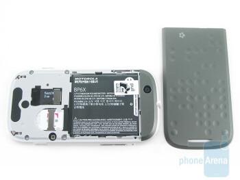 The back - Motorola CLIQ Review