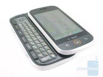 The Motorola CLIQ has four row QWERTY keyboard - Motorola CLIQ Review