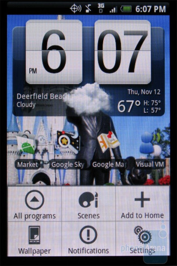 The 7 home screens of the HTC DROID ERIS - HTC DROID ERIS Review