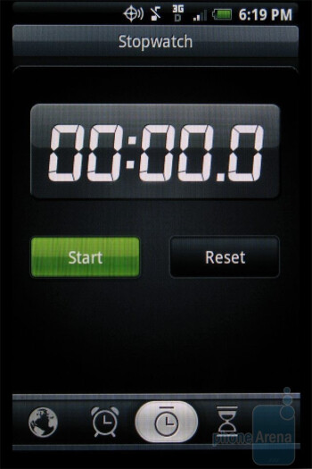 Alarms, World time, Stopwatch and Calculator - HTC DROID ERIS Review