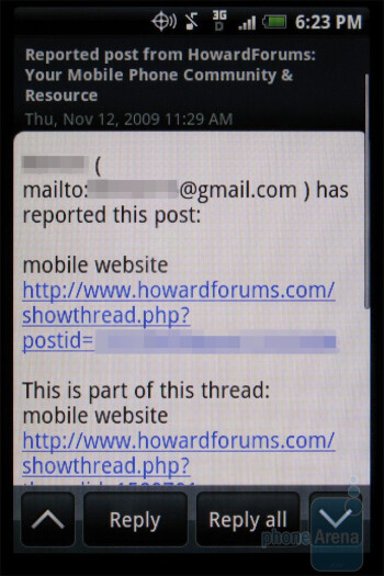 GMail is the preferred email solution, but the DROID ERIS will support nearly all IMAP and POP clients, as well as Exchange servers. - HTC DROID ERIS Review