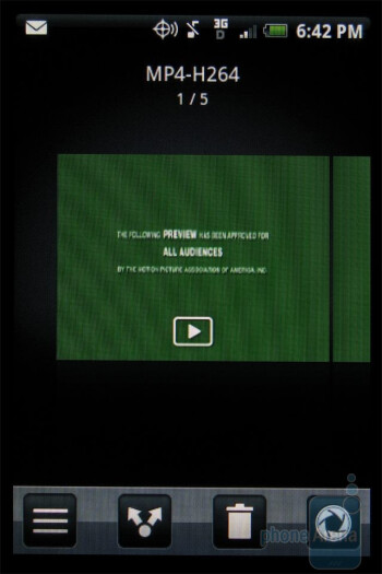 The video player of HTC DROID ERIS is very straightforward - HTC DROID ERIS Review
