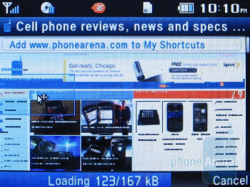 The browser quickly loads complex web pages - Pantech Reveal C790 Review