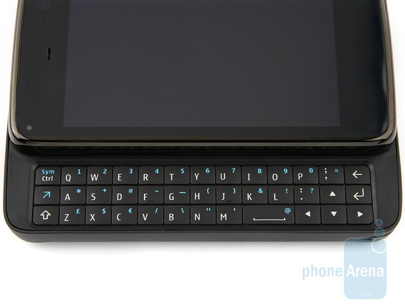 The buttons of the QWERTY keyboard arearranged in three rows - Nokia N900 Review