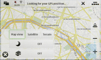 Nokia N900 comes with a preinstalled copy of Ovi Maps - Nokia N900 Review