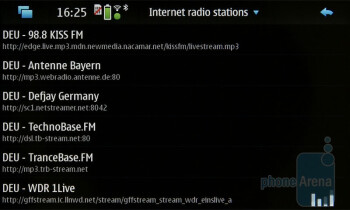 The Media player plays also Internet radio - Nokia N900 Review