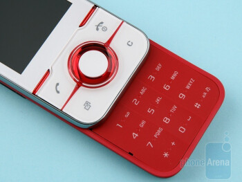 The buttons on the front side - Sony Ericsson Yari Review