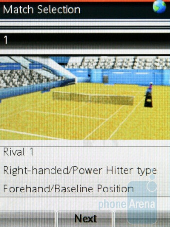 The games Fitness and Tennis - Sony Ericsson Yari Review