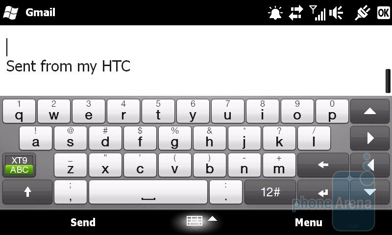 On-screen QWERTY keyboards - HTC HD2 for T-Mobile Review