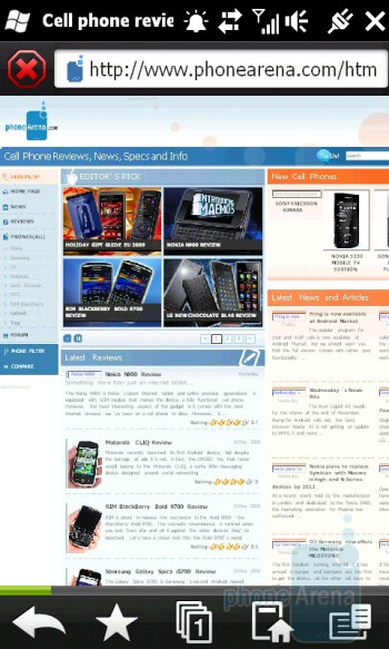 Opera Mobile - HTC HD2 Review