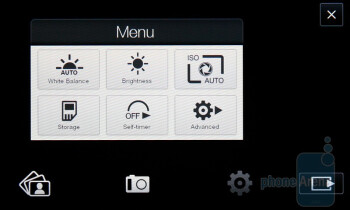 Camera interface - HTC HD2 Review