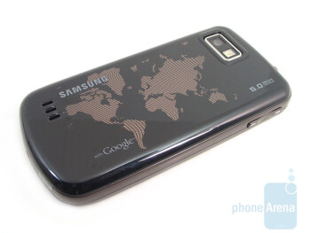 The map of the world design on the backof Samsung Behold II T939 - Samsung Behold II T939 Review