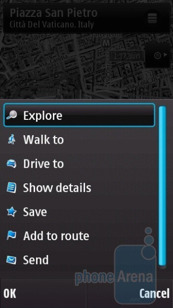 The N97 mini has the latest version 3.0 of Ovi Maps - Nokia N97 mini Review