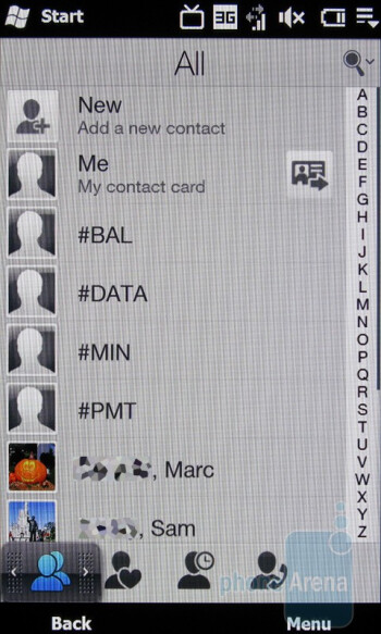 Adding contacts on the HTC Imagio - Motorola DROID, HTC Imagio and DROID ERIS: side by side