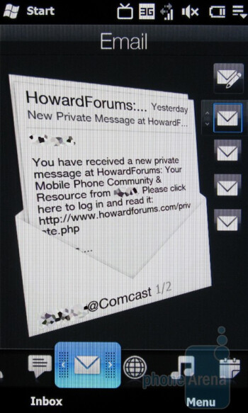 The HTC Imagio has a personalized e-mail app - Motorola DROID, HTC Imagio and DROID ERIS: side by side