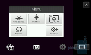 HTC Imagio camera interface - Motorola DROID, HTC Imagio and DROID ERIS: side by side