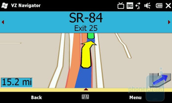 VZ Navigator running on the Imagio - Motorola DROID, HTC Imagio and DROID ERIS: side by side