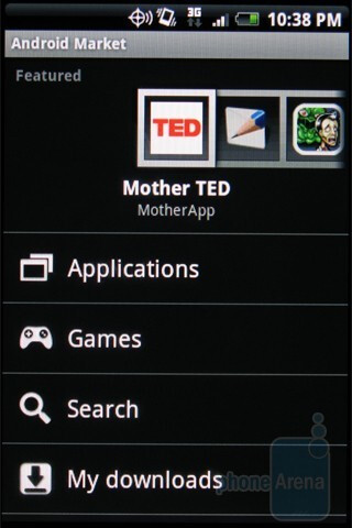HTC DROID ERIS - Downloading apps - Motorola DROID, HTC Imagio and DROID ERIS: side by side