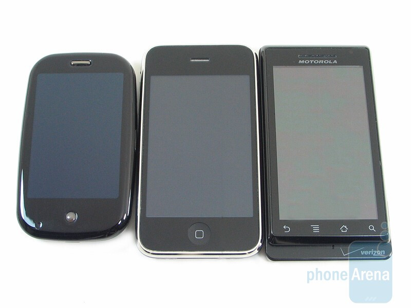 Motorola DROID, Apple iPhone 3GS and Palm Pre: side by side