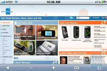 Surfing the web with the Apple iPhone 3GS - Motorola DROID, Apple iPhone 3GS and Palm Pre: side by side