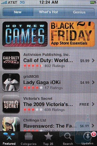 The Apple iPhone 3GS App Store - Motorola DROID, Apple iPhone 3GS and Palm Pre: side by side