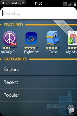 The Palm Pre App Catalog - Motorola DROID, Apple iPhone 3GS and Palm Pre: side by side