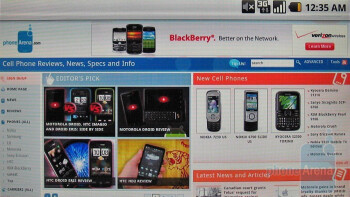 Surfing the web with the Motorola DROID - Motorola DROID, Apple iPhone 3GS and Palm Pre: side by side