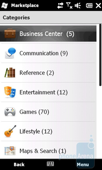 The online application stores of Microsoft and Apple - HTC HD2 and Apple iPhone 3GS: side by side