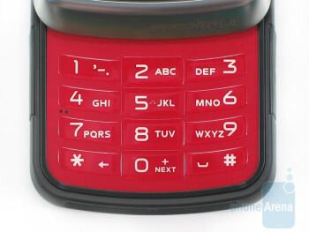The 12 key dialpad - Motorola Debut i856 Review