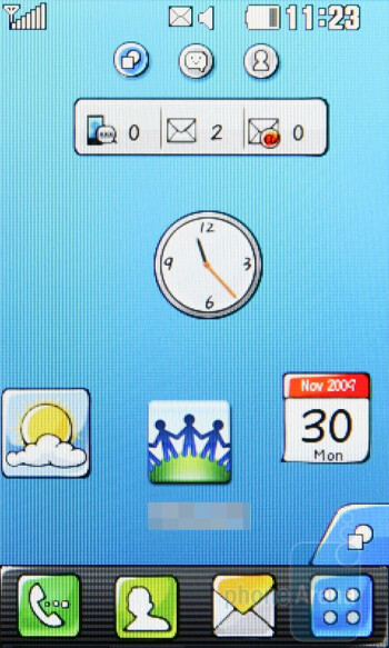 The home screen of the LG Pop GD510 - LG Pop GD510 Preview