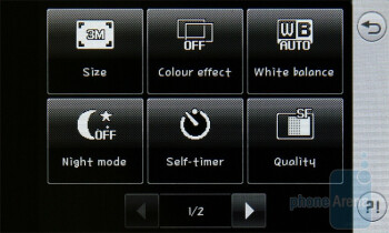 The camera interface - LG Pop GD510 Preview