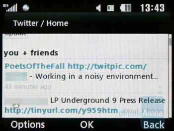 Twitter in the HTML browser - LG GW300 Review