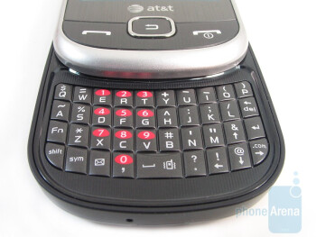The 4-row QWERTY keyboard  - Samsung Flight A797 Review