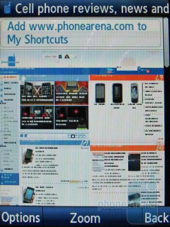 Internet surfing - Samsung Flight A797 Review