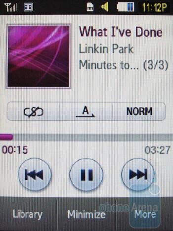 Music player - Samsung Flight A797 Review