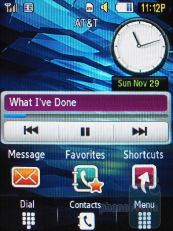 Mini player on the homescreen - Music player - Samsung Flight A797 Review