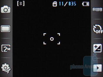 Camera interface - Samsung Flight A797 Review