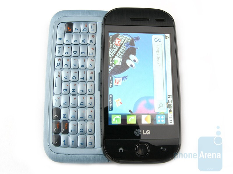 The QWERTY keyboard - LG GW620 Preview