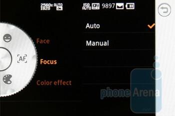 Camera interface - LG GW620 Preview
