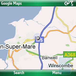 The Samsung OmniaPRO B7330 features Google Maps - Samsung OmniaPRO B7330 Review